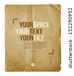 vintage paper with space for... | Shutterstock .eps vector #152290952