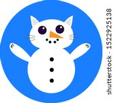 Snowman With The Head Of A Cat...