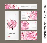 business cards design with... | Shutterstock .eps vector #152293202