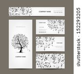 Business Cards Collection With...