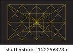 flat vector the golden ratio... | Shutterstock .eps vector #1522963235