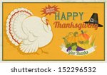 thanksgiving poster  with white ... | Shutterstock .eps vector #152296532