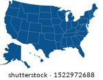 united states country map... | Shutterstock .eps vector #1522972688