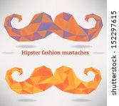 vector set of geometric hipster ... | Shutterstock .eps vector #152297615