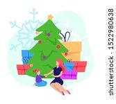 woman giving christmas gift to...
