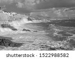 A Very Stormy Sea And Sky At...