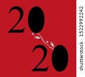 rat tracks between the numbers... | Shutterstock .eps vector #1522992242