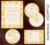 set of wedding invitation cards ... | Shutterstock .eps vector #152299712