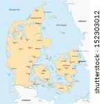 danmark map | Shutterstock .eps vector #152303012