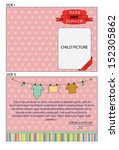 pink double sided invitation... | Shutterstock .eps vector #152305862