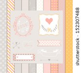 vintage design elements  pink... | Shutterstock .eps vector #152307488