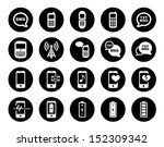 cell phone icon set | Shutterstock .eps vector #152309342
