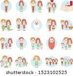 detailed character people.... | Shutterstock .eps vector #1523102525