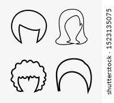 woman   man hair  vector... | Shutterstock .eps vector #1523135075