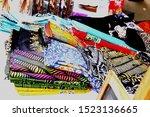 very colorful indonesian batik... | Shutterstock . vector #1523136665