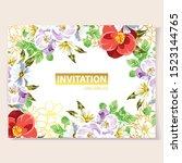 vintage delicate greeting...   Shutterstock .eps vector #1523144765