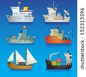 vector illustration  set of... | Shutterstock .eps vector #152315396