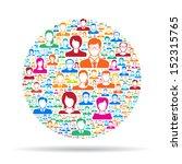 social network   Shutterstock .eps vector #152315765