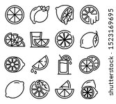 lime icons set. outline set of... | Shutterstock .eps vector #1523169695