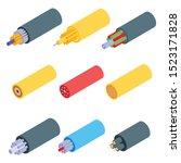optical fiber icons set.... | Shutterstock .eps vector #1523171828