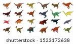 dinosaur icons set. isometric... | Shutterstock .eps vector #1523172638