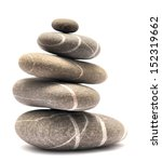 Balancing Stones Isolated On...