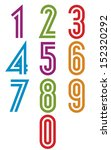 double stripes funky numbers... | Shutterstock .eps vector #152320292