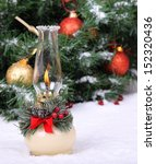 burning holiday lamp in the... | Shutterstock . vector #152320436
