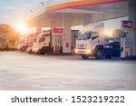 Trucks Refueling In Petrol...