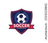 soccer logo  american logo... | Shutterstock .eps vector #1523223842