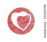 heart vector icon with pixel... | Shutterstock .eps vector #152322782