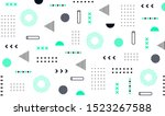 mega set of memphis design... | Shutterstock .eps vector #1523267588