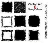 set of abstract square frames | Shutterstock .eps vector #152328242