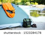 Sleeping Bag And Other Camping...
