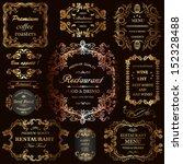 vector set  calligraphic design ... | Shutterstock .eps vector #152328488