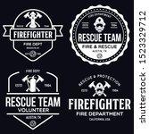 vintage set of firefighter...   Shutterstock .eps vector #1523329712