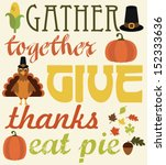 thanksgiving card design.... | Shutterstock .eps vector #152333636