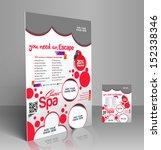 vector beauty salon flyer ... | Shutterstock .eps vector #152338346