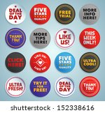 various stickers  labels and... | Shutterstock .eps vector #152338616