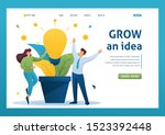 young people enjoy the growth... | Shutterstock .eps vector #1523392448