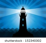 Lighthouse Silhouette On...