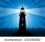 lighthouse silhouette on... | Shutterstock .eps vector #152340302