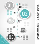 turquoise timeline with... | Shutterstock .eps vector #152341046