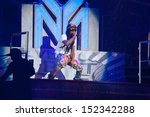 Small photo of SACRAMENTO, CA - AUGUST 28: Rapper Dwayne Michael Carter, Jr. aka Lil Wayne performs in concert as part of America's Most Wanted Tour at Sleep Train Arena on August 28, 2013 in Sacramento, California.