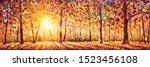 Autumn Panorama. Original Oil...