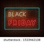 neon black friday text banner... | Shutterstock .eps vector #1523462138