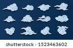 chinese clouds set isolated on... | Shutterstock .eps vector #1523463602