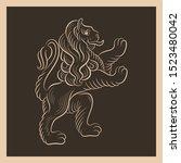 lion emblem. vintage icon... | Shutterstock .eps vector #1523480042