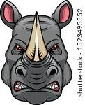 Rhino Head Mascot Isolated On A ...