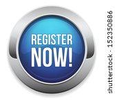 big blue register now button | Shutterstock .eps vector #152350886